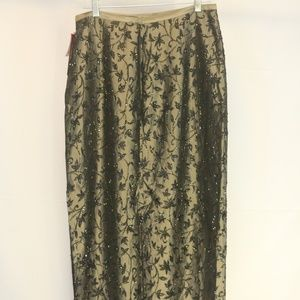 JS Collections Women's 10 Skirt Maxi Gold Black